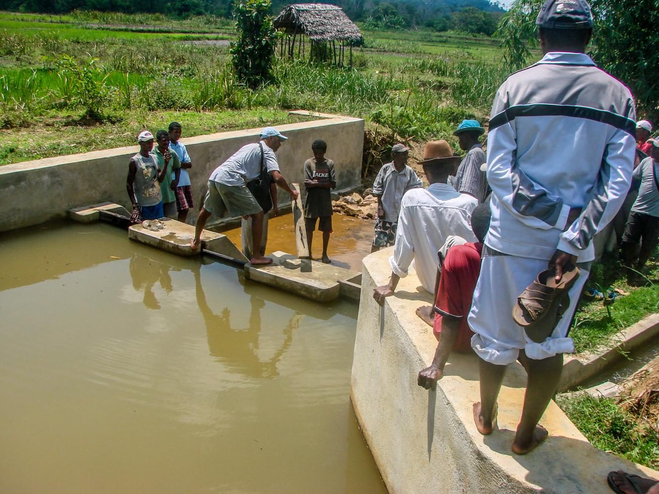 Barrage irrigatiekanaal 4