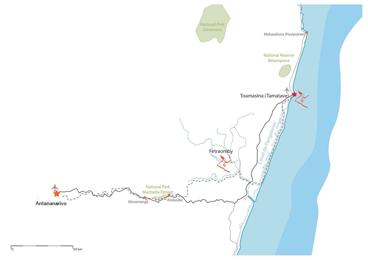 Route Tana Tamatave Fetraomby