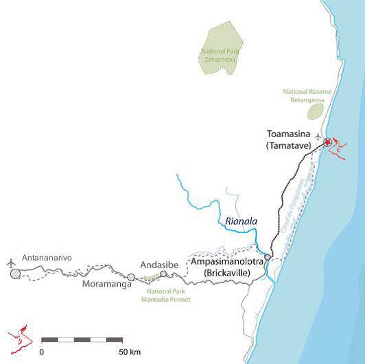 Route Tana Tamatave